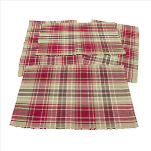 NWT-Samuel-Plaid-Place-Mats-Set-of-4-13-5x19-5-inches-cotton