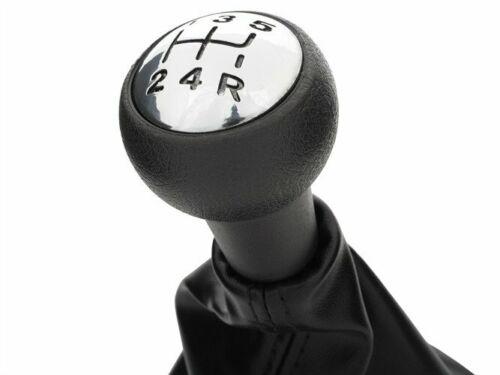 Für Citroen C3 C4 C5 Xsara Schaltknauf Schaltmanschette Schwarz Chrom in 5-Gang