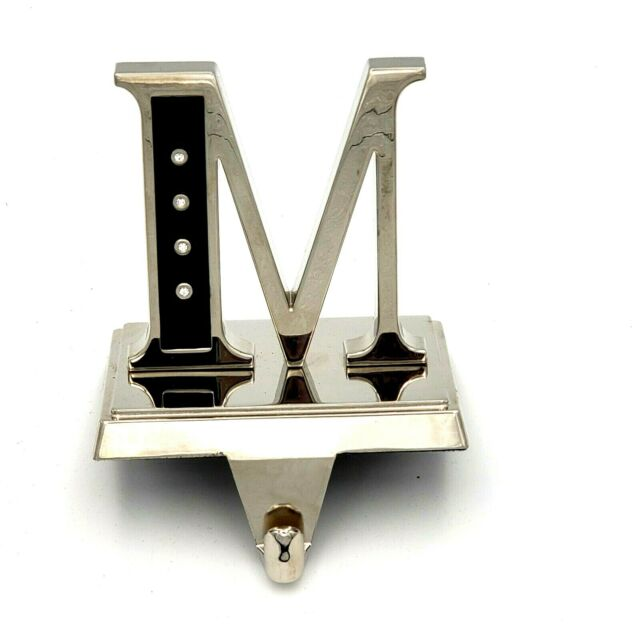 Harvey Lewis Letter M Christmas Stocking Holder Hanger