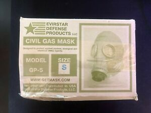Civil-Gas-Mask-Size-S-Used-with-Box-Evirstar-Defense-Products