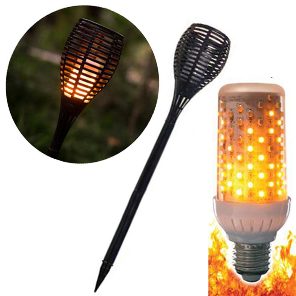 Torche lampe LED de jardin feu -brennt Nie NOUVEAU