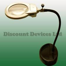 Adjustable Desk/Table Illuminated Magnifier Lamp Battery Powered LED Lights