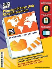 Heavy Duty Clear Sheet Protectors 85 X 11 100 Pack