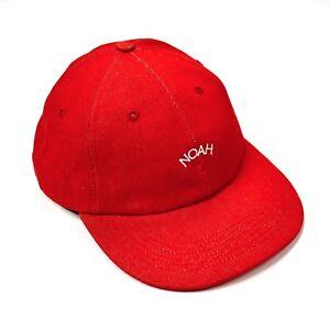 ab07dff9a7f8d NEW Noah NY Men s Red Rose Logo Embroidered Denim Cap Dad Hat FW17 ...