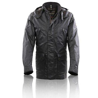 MATCHLESS Herren Winter Wax Jacke NOTTING HILL Black 110010 Größe L | eBay