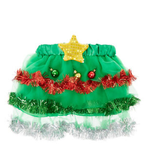 8b89f0728 Claire's Christmas Tree Tutu Skirt With Light Up Star Girl's/Women's ...