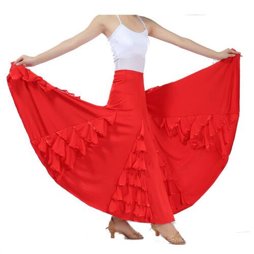 Ballroom Dance Wear Performance Skirt Long Modern Waltz Tango Competition Skirt