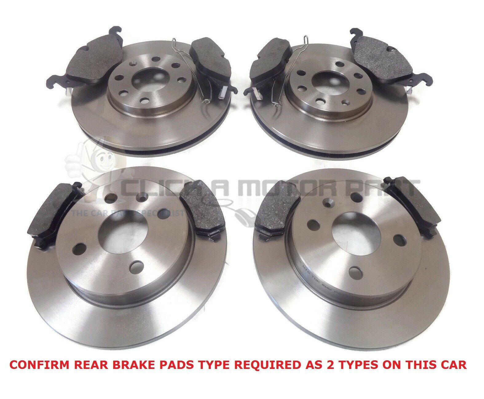 VAUXHALL ASTRA H MK5 1.3 1.7 CDTI 05-09 FRONT AND REAR BRAKE DISCS & PADS SET Car Parts
