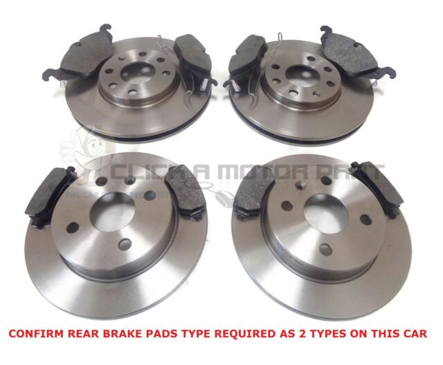 MINTEX FRONT REAR DISCS AND PADS FOR VAUXHALL ZAFIRA 1.8 2005