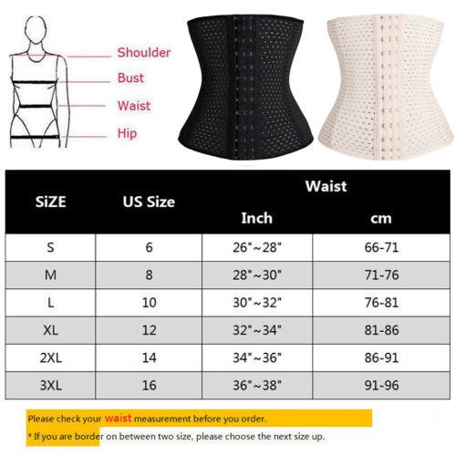Women/'s Waist Trainer Corset Body Shaper Shapewear Underbust Cincher Tummy Belt