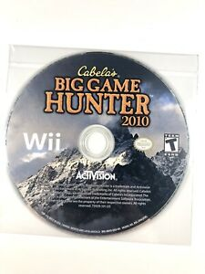 FREE-SHIPPING-Cabela-039-s-Big-Game-Hunter-2010-Nintendo-Wii-2009-Disc-Only-VG