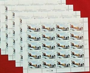 Four Sheets x 20 = 80 of KLONDIKE GOLD RUSH 32¢ US PS Postage Stamps. Sc # 3235