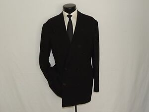 Double-Breasted-Black-label-Giorgio-Armani-men-039-s-jacket-coat-size-38-R