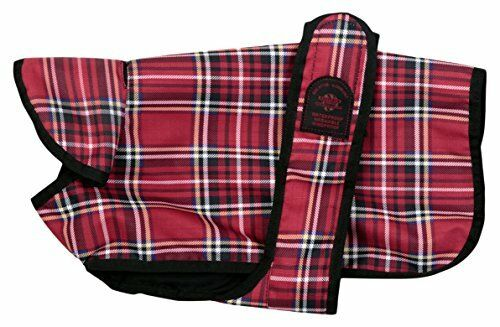 Outhwaite Un-lined Tartan Belly Dog Coat, 26-Inch, Red