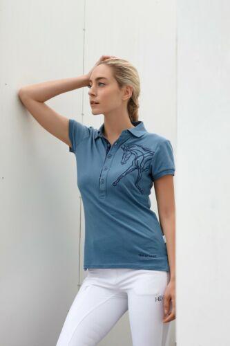 Horseware Ladies Flamboro Pique Polo Top Shirt Classic Favourite Navy//Blue
