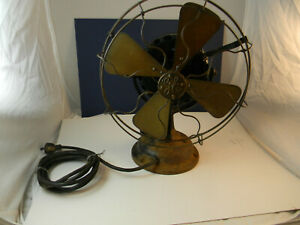 Vintage-GE12In-Brass-Blade-and-cage-3-Speed-Fan