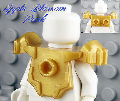 NEW Lego Chima Minifig Pearl GOLD SHOULDER PAD CHEST ARMOR - Wing Weapon Holder