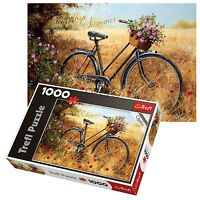 Trefl 1000 Piece Adult Large Bike Autumn Field Floor Jigsaw Puzzle NEW