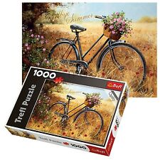 Trefl 1000 Piece Adulto Grande Bicicletta Autunno Campo Pavimento Puzzle nuovo