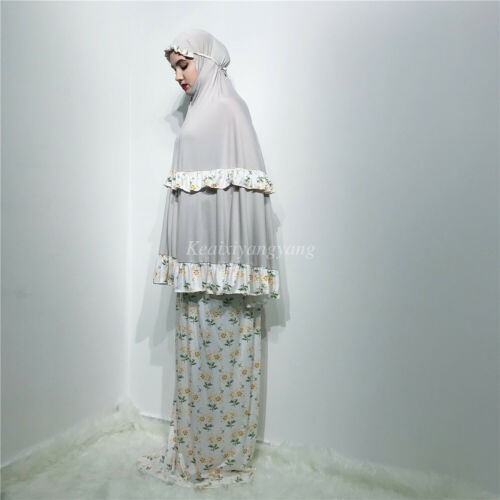 Prayer Dress Muslim Two-Piece Abaya Talakong Muslim Islamic Abaya Set Hajj Umrah