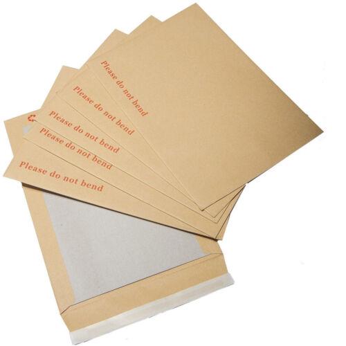 2000 A6//C6 Veuillez Ne Pas Plier dur carte board Backed Manille Enveloppes Marron