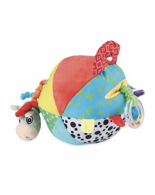 Helps To Develop Colourful Strong-Willed Ñuby Squeak Rattle N Roll Soft Activity Toy 3m