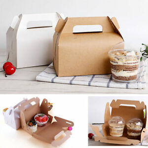 Image Is Loading 50pcs Paper Gable Boxes Candy Cake Box Wedding