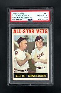 1964-TOPPS-81-ALL-STAR-VETS-NELLIE-FOX-HARMON-KILLEBREW-PSA-8-5-NM-MT-CENTERED