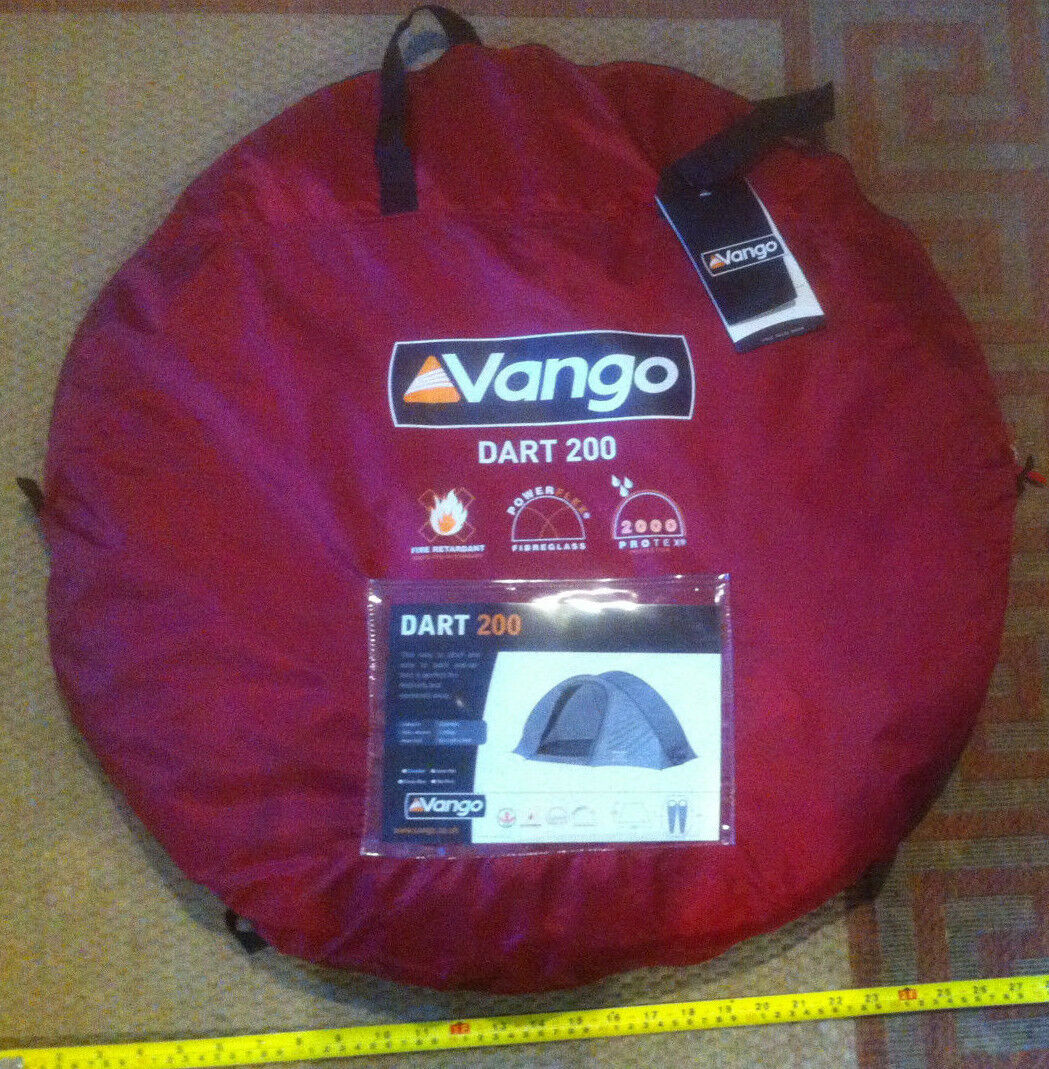 Red Vango Dart 200 Tent 2.1kg 2 Man Eay To Pitch Fire Retardant