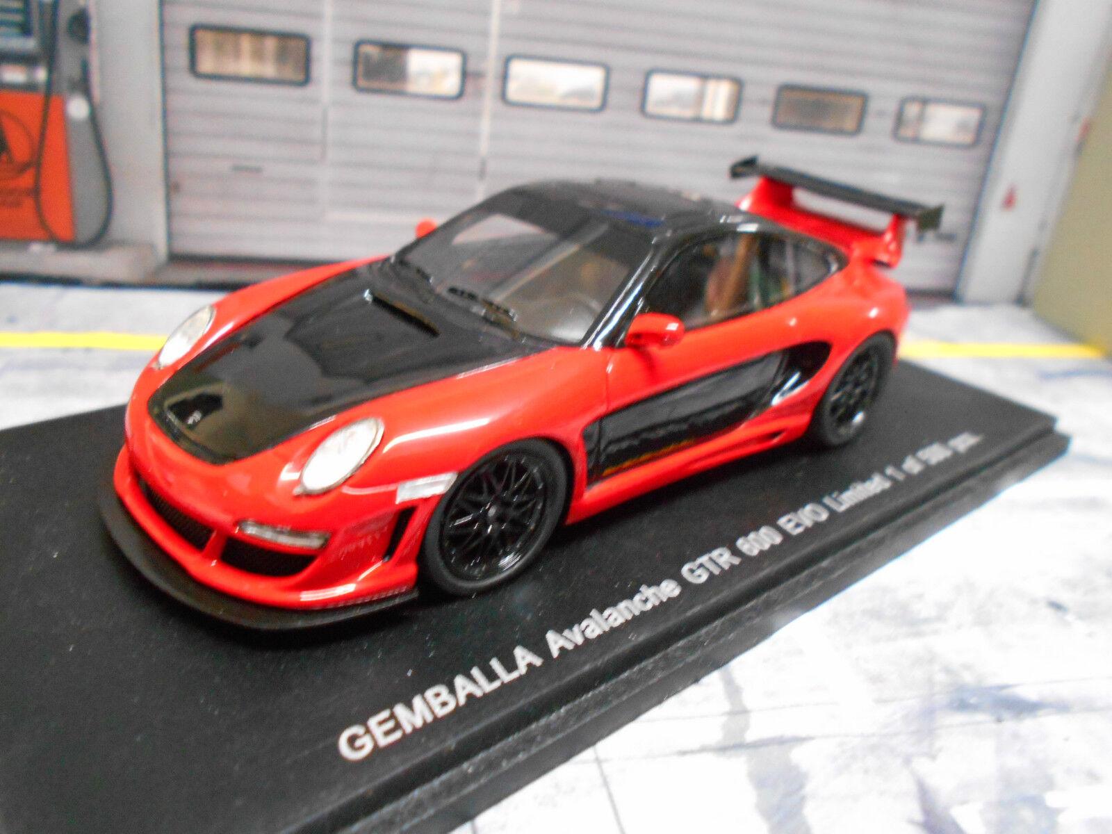 Porsche 911 997 GEMBALLA AVALANCHE GTR 600 Evo rouge Rouge 1 500 Lim Spark RAR 1 43