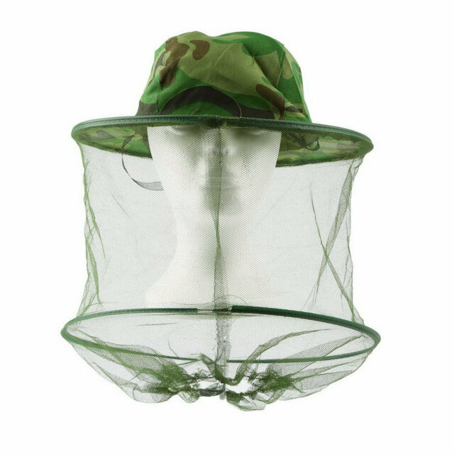 Insect Bee Mosquito Resistance Bug Net Mesh Head Face Protector Cap Sun Hat 1V