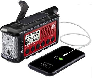 Midland - ER310, Emergency Crank Weather AM/FM Radio - Multiple Power Sources, S