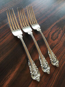 """Washington by Wallace Sterling Silver Dinner Fork 7 1//2/"""""""
