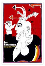 "Cuban decor Graphic Design movie Poster 4 film""KARATE""Karatecas.Martial Arts"