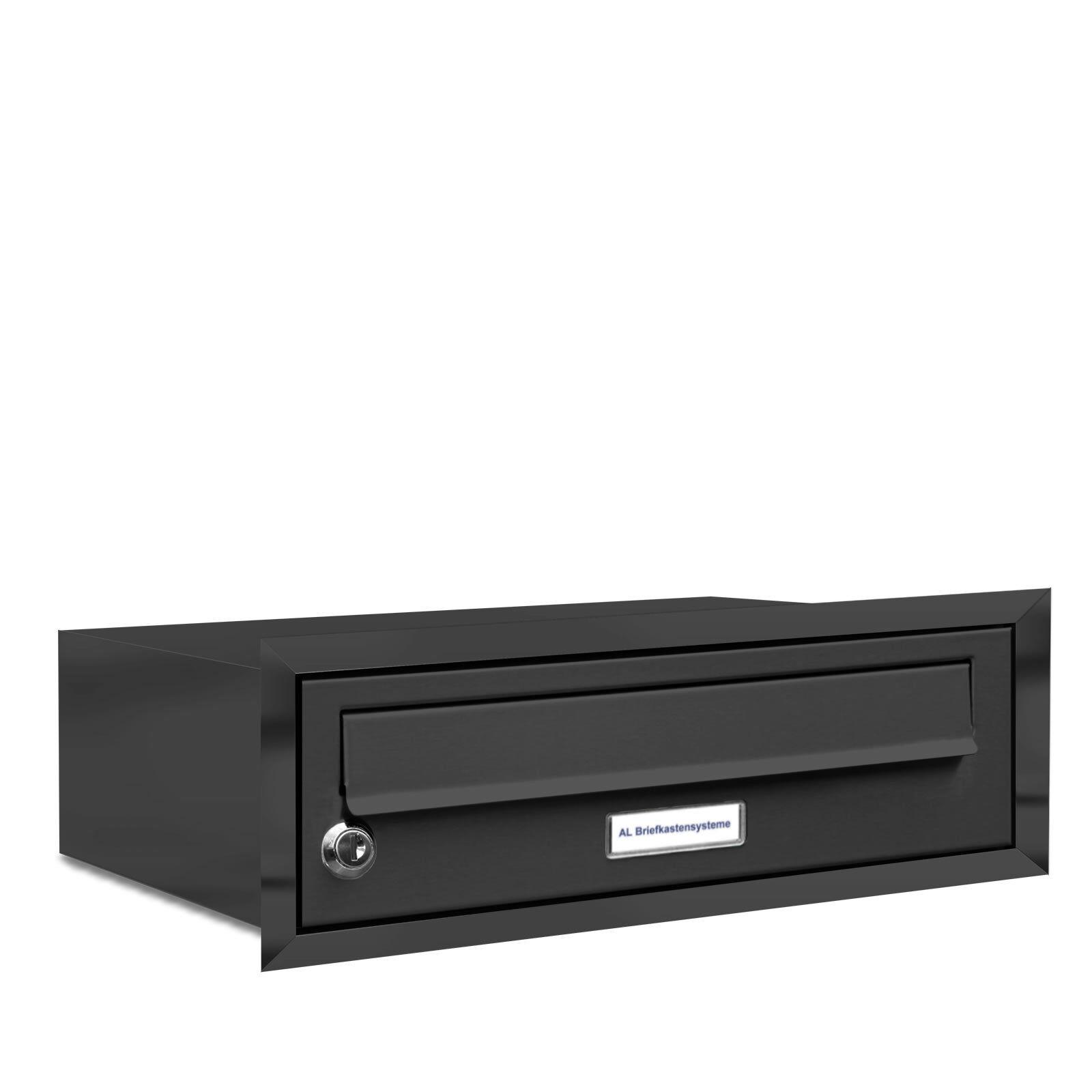 1 er Premium Briefkasten Anthrazit RAL 7016 1 Fach Unterputz Anlage Postkasten