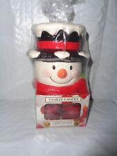 Item 2 New   Yankee Candle Snowman   Tea Light Holder With Cherries On Snow  Candles  New   Yankee Candle Snowman   Tea Light Holder With Cherries On  Snow ...