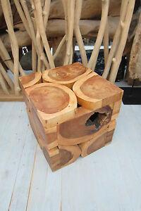 Tisch Cube Hocker Teakholz Köln Möbel Asia Stone Köln Beistelltisch