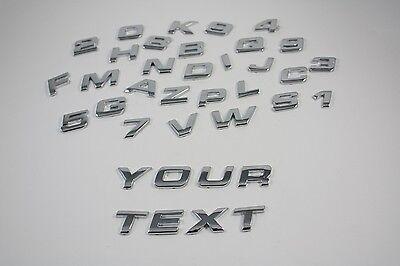 1x Chrome Individual Letter 3D Emblem Badge Number alphabet DIY name car bike