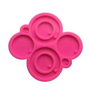 Large Round Pendant Shiny Silicone Mold for Epoxy Resin Crafts