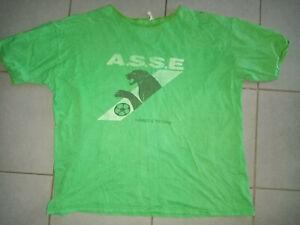 vintage tee shirt t-shirt ASSE ST ETIENNE  football allez les verts maillot