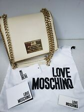 eb7d09569659 item 4 NEW Love Moschino Quilted Shoulder Bag with Chain Strap Cream Gold  -NEW Love Moschino Quilted Shoulder Bag with Chain Strap Cream Gold