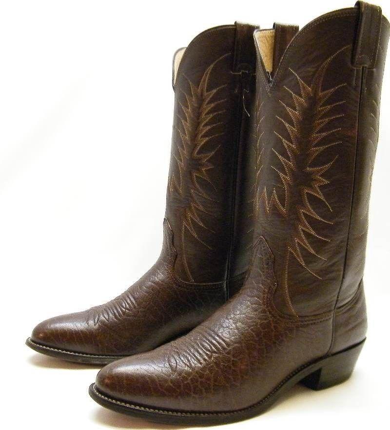 MENS NOCONA 83379 USA USA USA MADE braun LEATHER COWBOY WESTERN Stiefel SZ 9.51 2 B 4efa58