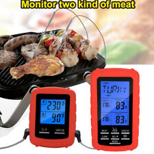 Wireless Barbecue Meat Thermometer Grilling Oven Kitchen Digital LCD Dual Probe