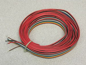 1 Lot:10 Feet of 12 Conductor Flat Cable 10 Colors Pull Apart #24 ...