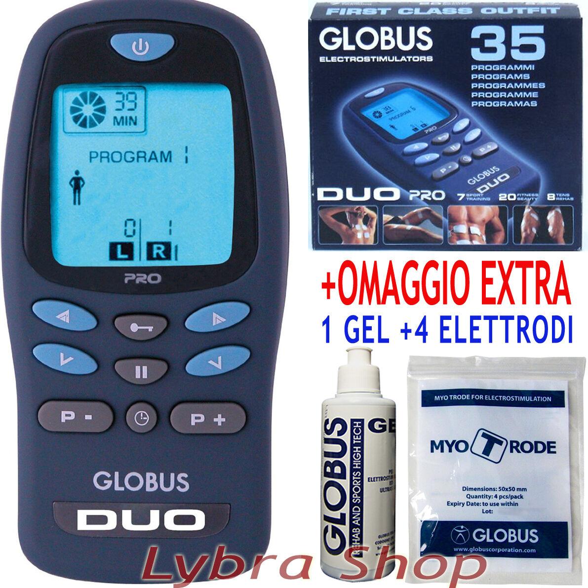 Globus DUO PRO a elettrostimolatore 2 canali a PRO batterie Sport Fitness Tens f1534e
