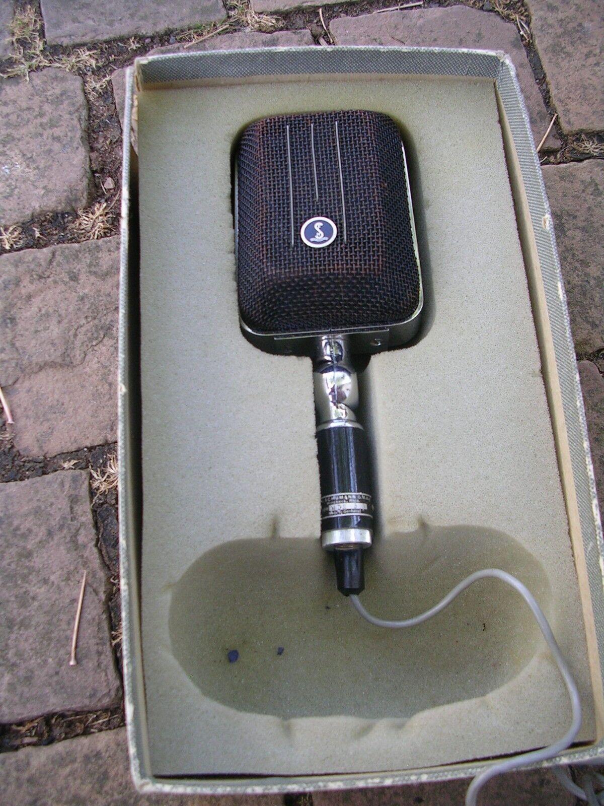 F&h Schumann GmbH microfono mds3n vintage rarità in scatola originale