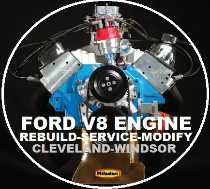 ford v8 260 289 302 351 windsor cleveland rebuild repair workshop rh ebay com au Ford 428 Engine Ford 428 Engine