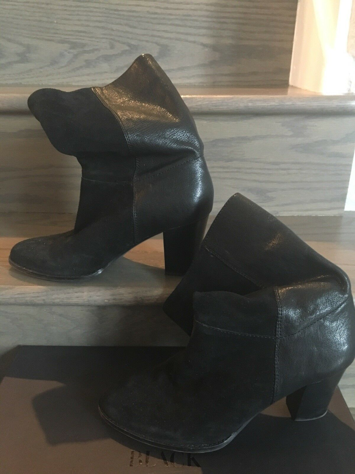 Saks Fifth Ave Selina Black Suede leather Ankle Ankle Ankle Booties Sz 8,5(39)  290 f33adc