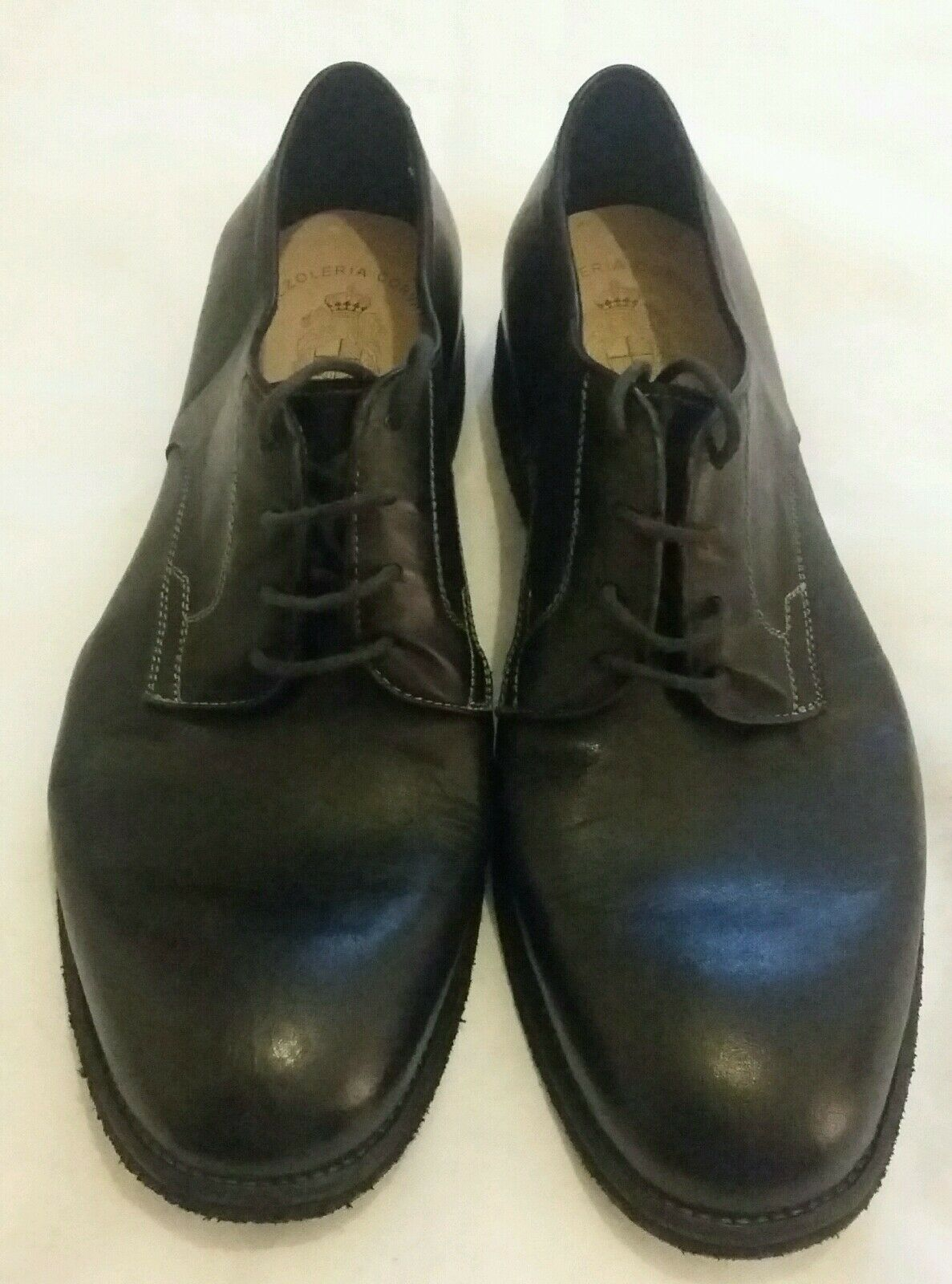 CALZOLERIA CORVARI Vintage Style Lace-up  Black shoes Size uk 8.5 eu 42
