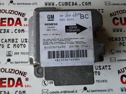 09229037 BC Centralina comando airbag Opel Astra G 5WK4 2923